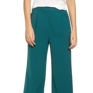 Leith High Waist Flare Pants - Green Bug